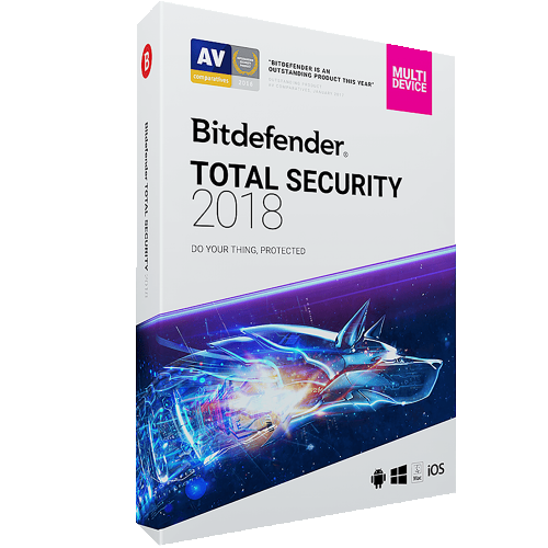1Yr/10PC Bitdefender Total Security Keycard