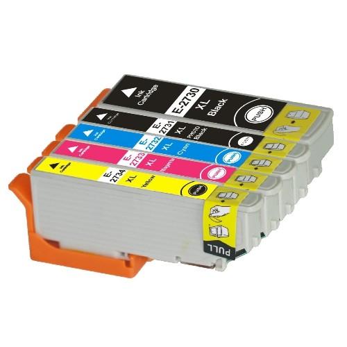 Epson 273XL New Compatible Inkjet Cartridges - Combo Pack of 5 (BK,PBK,C,M,Y)