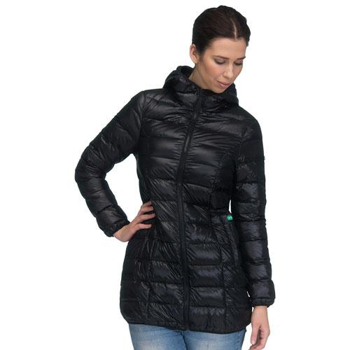 Manteau de maternité garni de duvet Ashley de Modern Eternity - Grand - Noir