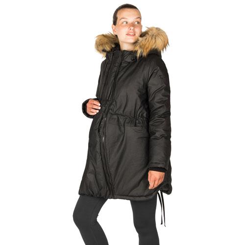 Modern Eternity Sofia Waxed Shell Maternity Parka Coat - Large - Black