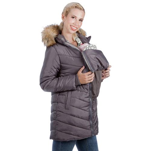 Manteau de maternité matelassé et bouffant Lexie de Modern Eternity - Très petit - Gris