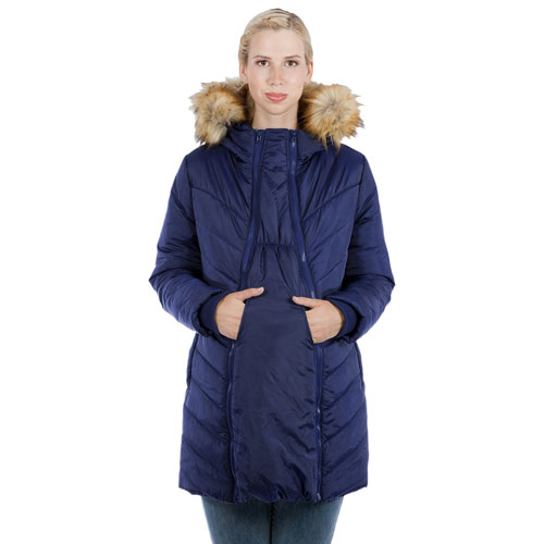 9e59b5efe64d3 Modern Eternity Lexie Quilted Maternity Puffer Coat - Small - Navy | Best  Buy Canada