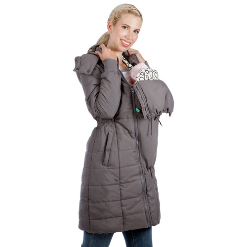 Manteau de maternité matelassé et bouffant Madison de Modern Eternity - Très petit - Gris pâle