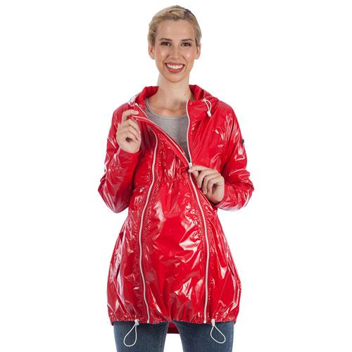 7c60cd5fa8d42 Modern Eternity Kate Waterproof Maternity Rain Jacket - Large - Red | Best  Buy Canada