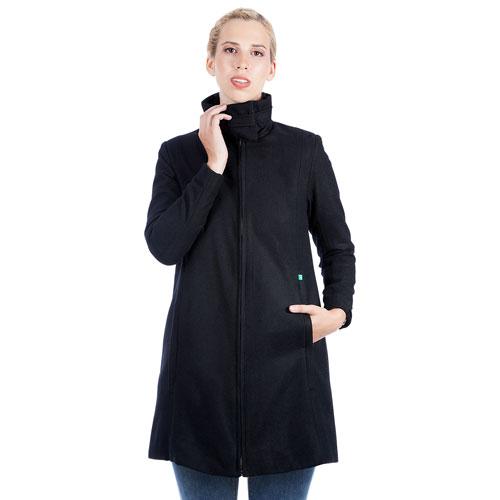 Manteau de maternité en laine Lauren de Modern Eternity - Petit - Noir
