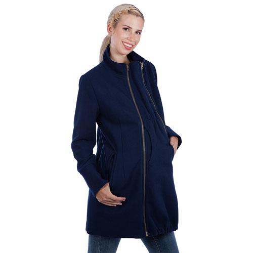 Manteau de maternité en laine Brittany de Modern Eternity - Très petit - Bleu marine