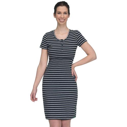 ca7e8b10779 Modern Eternity Olivia Maternity Nursing Dress - X-Large - Black Grey  Stripes   Maternity Tops - Best Buy Canada