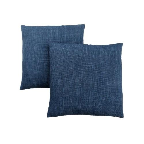 PILLOW 40X 40 LINEN PATTERNED DARK BLUE 40PCS Decorative New Dark Blue Decorative Pillows