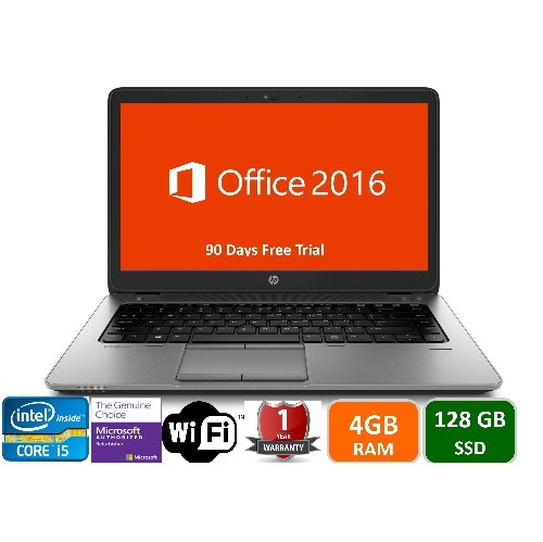 "HP 840 G1, Intel i5-4300U,4GB Memory, 120GB SSD Drive, 14"" Screen, Win 10 Pro, 1YW-Refurbished"