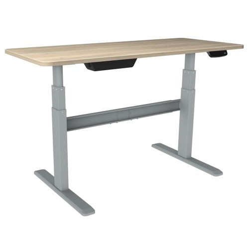 Bordeaux Electric Standing Desk Sit Stand Desk With Silver Frame