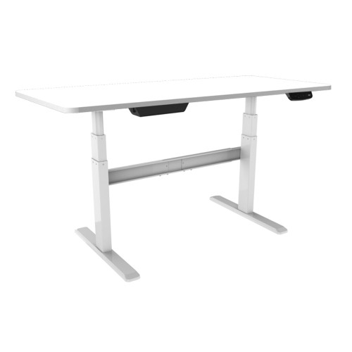 Bordeaux Electric Standing Desk Sit Stand Desk With White Frame