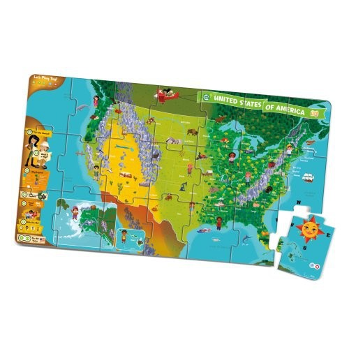 LeapFrog LeapReader Interactive United States Map Puzzle Works - Interactive us map for kids