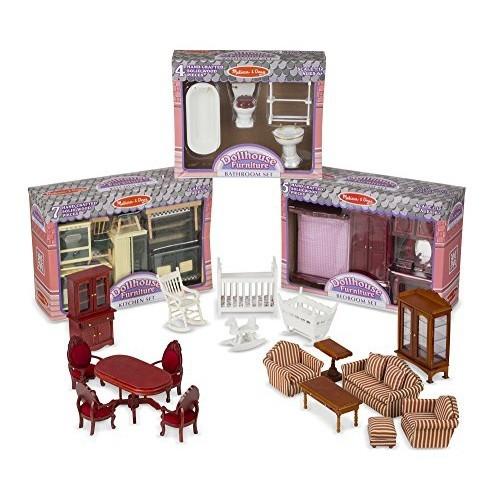 Marvelous Melissa U0026 Doug Victorian Dollhouse Furniture Bundle   Online Only