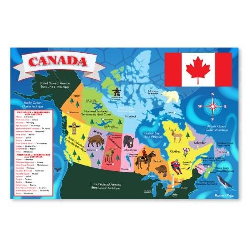 melissa doug canada map floor 48 pieces online only