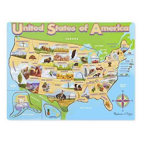 Melissa & Doug USA Map Jigsaw Puzzle : Puzzles - Best Buy Canada