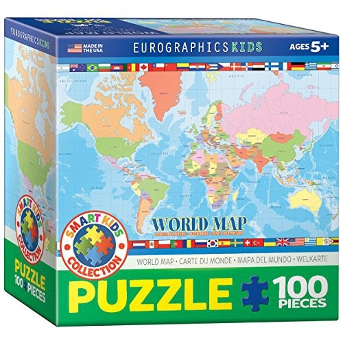 Eurographics world map for kids jigsaw puzzle 100 piece puzzles eurographics world map for kids jigsaw puzzle 100 piece online only gumiabroncs Gallery