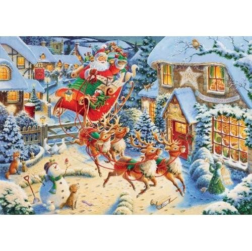 ravensburger santas flying visit 1000 pieces christmas puzzle - Ravensburger Christmas Puzzles
