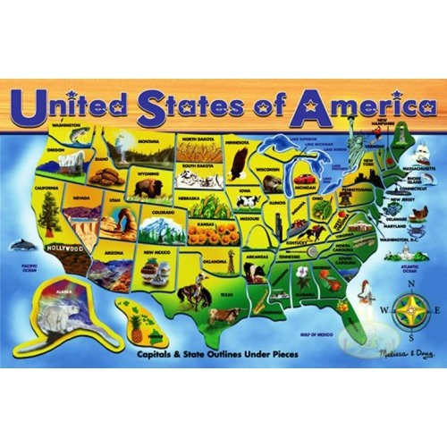 Usa Map Puzzles Online.Melissa Doug Deluxe Wooden Usa Map Puzzle Puzzles Best Buy Canada