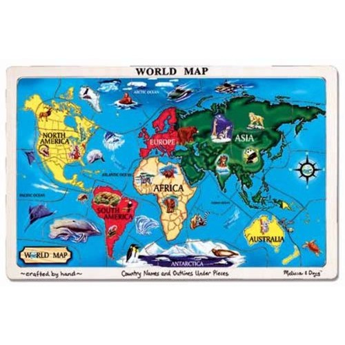 Melissa doug world map jigsaw puzzle puzzles best buy canada melissa doug world map jigsaw puzzle online only gumiabroncs Choice Image