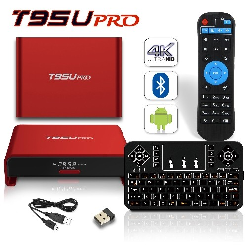 2017 Model BPSMedia T95U Android 7.1 Bluetooth TV Box 3GB / 32GB Amlogic S912 64 Bits Octa Core