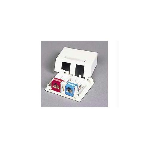 White 4 Port Keystone Jack Surface Mount Box