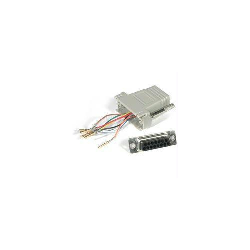 MODULAR ADAPTER - 15 pin D-Sub (DB-15) - Female - RJ-45 - Male - Grey