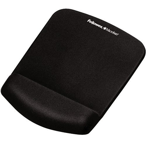 PLUSH TOUCH MOUSE PAD/WRIST REST WITH FOAM FUSION TECHNOLOGY - BLACK