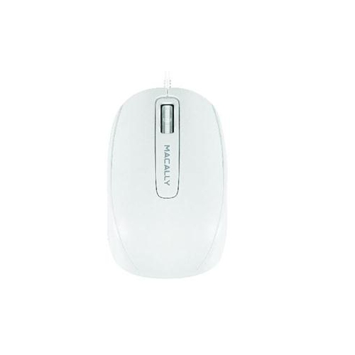 MACALLY USB WIRED COMPUTER MOUSE WITH 3 BUTTON, SCROLL WHEEL, & 5 FOOT LONG CORED, COMPATIBLE WITH WINDOWS PC, APPLE MAC