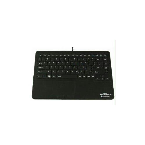 SEAL TOUCHTM GEN 2 SILICONE ALL-IN-ONE KEYBOARD W/TOUCHPADDISHWASHER SAFE & ANTIMICROBIAL (BLACK)(USB) S87P2