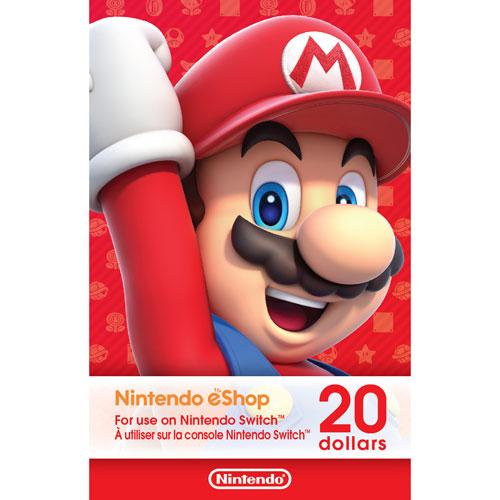 Nintendo eShop 20 Dollars - Digital Download