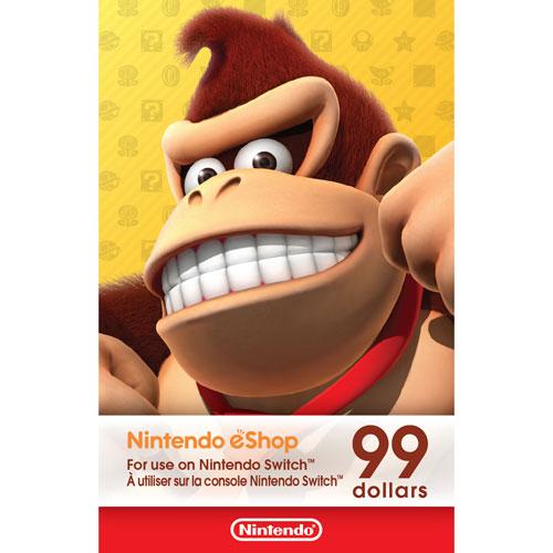 99 dollars pour boutique Nintendo eShop - Téléchargement numérique