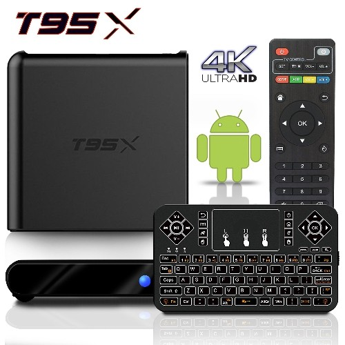 2017 Model BPSMedia T95X Android 6.0 Bluetooth TV Box 2GB / 8GB Amlogic s905 64 Bits Quad Core