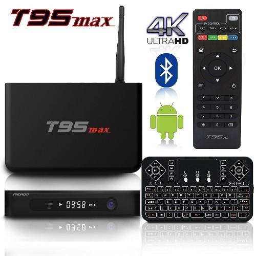 2017 Model BPSMedia T95K Android 7.1 Bluetooth TV Box 2GB / 16GB Amlogic S912 64 Bits 8 Coeurs
