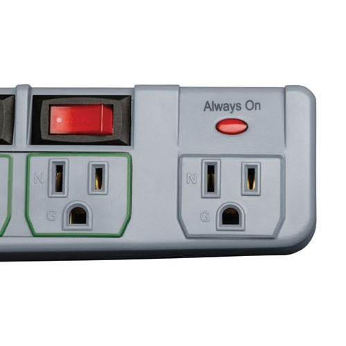 Tripp Lite Individually-Controlled Eco-Surge Protector (TLP76MSG)
