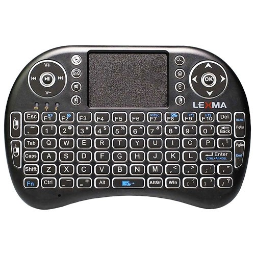 Lexma TK200 Wireless Backlit Ergonomic Mini Keyboard with Touchpad - English - Open Box