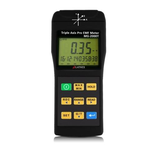 MG-2000T: Triple Axis Magnetic Field Gauss Detector Professional EMF Meter