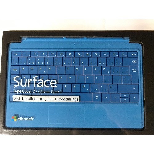 Microsoft Surface Type Cover 2 (Cyan) Canadian English French Bilingual Keyboard Layout
