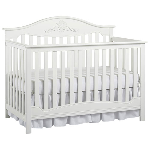 Fisher price mia 4 in 1 convertible crib snow white for Best value baby crib