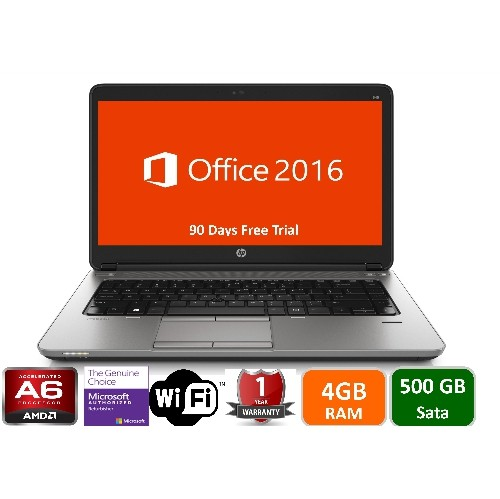 "HP 645 G1, AMD A6-4400M, 4GB Memory, 500GB Sata Drive, DVDRW, 14.1"" Screen, Win 10 pro , 1yw-Refurbished"