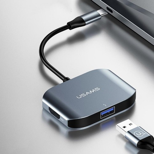 USAMS US-SJ145 Type-C to USB3.0/USB2.0/HDMI Adapter