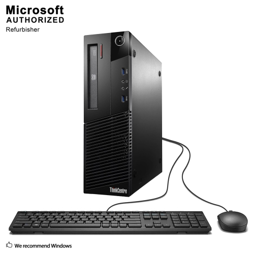Lenovo M93P SFF Intel Core i5 4570 3.2G,16G DDR3,512G SSD,DVDRW,W10P(EN/FR)-1 Year Warranty,Refurbished
