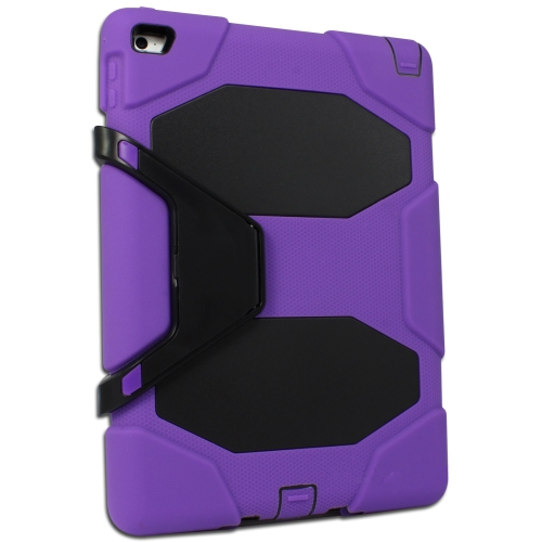 Heavy Duty Protective Case Cover for Apple iPad Air 2 - Purple
