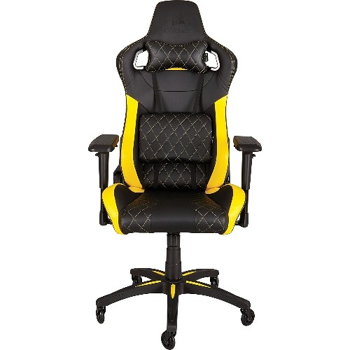 Refrubished Corsair CF-9010005-WW T1 Race, High Back Desk & Office Chair, Black, Yellow