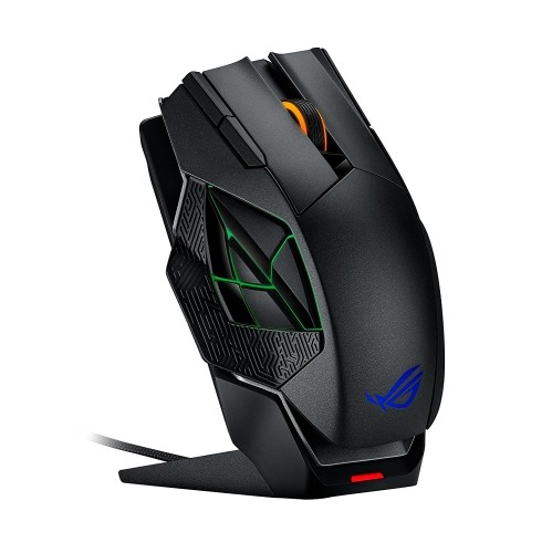 ASUS ROG Spatha Wired/Wireless Laser Gaming Mouse - Black - English, Right-Handed