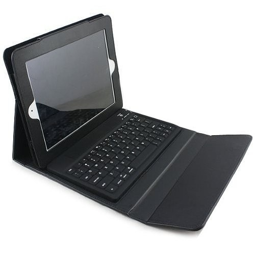 Delux Infinity Bluetooth Folio Keyboard with Faux Leather Case cover DLC-10