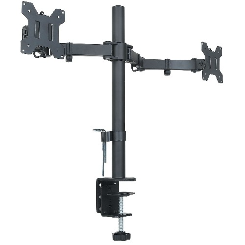 Halter Dual LCD Monitor Stand Desk Clamp for 27-Inch LCD Monitors