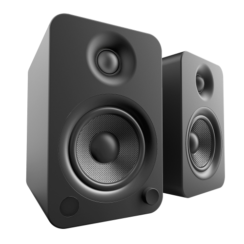 Kanto YU4 Powered Speakers With BluetoothR And Phono Preamp Matte Black