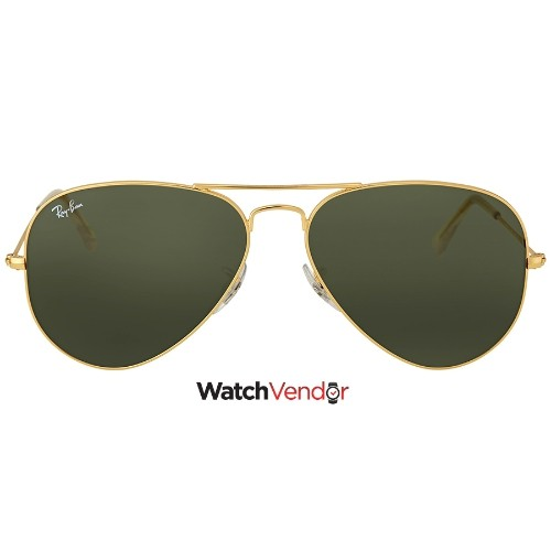 4dc90e1a8ed Ray Ban Aviator 58mm Classic Green Sunglasses RB3025 L0205 58-14 ...