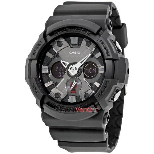 f98c23a16408 Casio G-Shock Black Dial Resin Men s Watch GA201-1A   Mens Watches ...