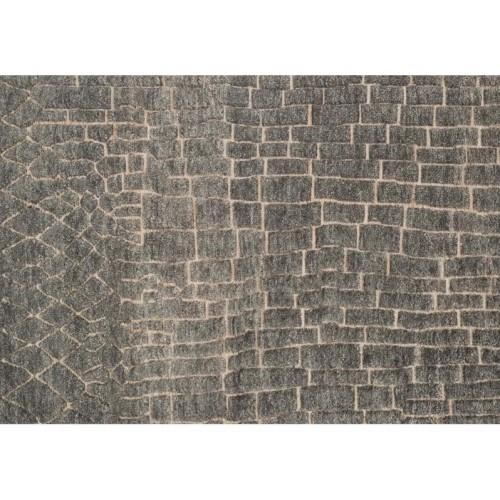 Loloi Tanzania Wool 5 6 X 8 6 Round Area Rug Slate Rugs